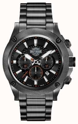 Harley Davidson Mens Stainless Steel Chronograph 78B127
