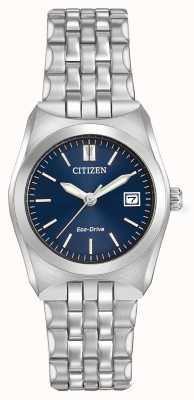 Citizen Womens Eco Drive Corso WR100 Dark Blue Dial EW2290-54L