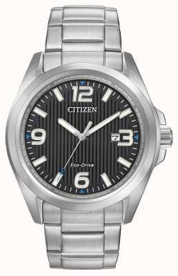 Citizen Eco-Drive Black Dial Easy Read Black Dial AW1430-86E