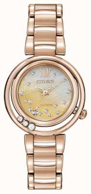 Citizen Eco-Drive Sunrise L Rose Gold EM0323-51N