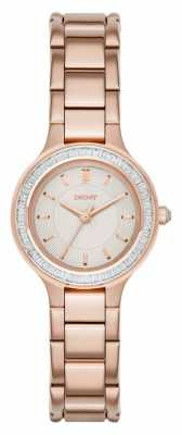 DKNY Womens Chambers Stone Set Rose Gold PVD NY2393