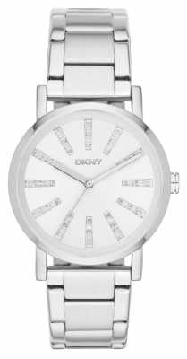 DKNY Womens SoHo Stainless Steel Stone Set Dial NY2416