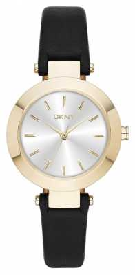 DKNY Womens Stanhope Black Leather Strap NY2413