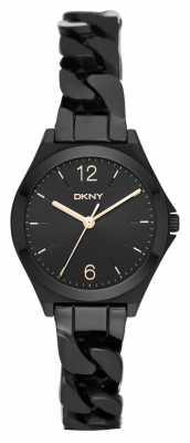 DKNY Womens Parsons Black PVD Plated NY2426