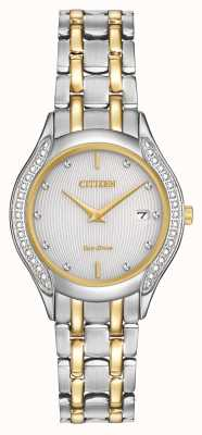 Citizen Womens Eco-drive 30 Diamond Two Tone GA1064-56A