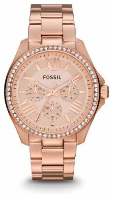 Fossil Womens Cecile Rose Gold PVD Plated AM4483