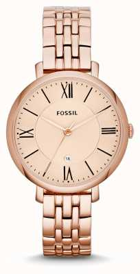Fossil Womens Jacqueline Rose Gold PVD Plated ES3435