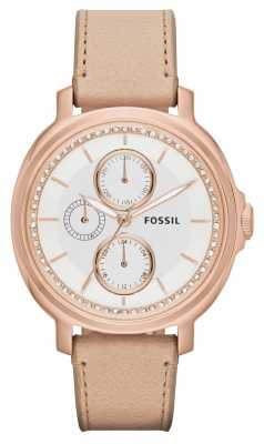 Fossil Womens Chelsey Rose Gold PVD Plated Leather ES3358