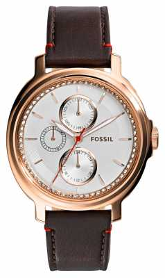 Fossil Womens Chelsey Rose Gold PVD Plated Leather ES3594
