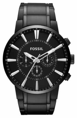 Fossil Mens Black IP Chronograph FS4778