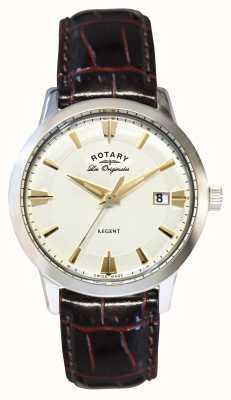 Rotary Mens Regent Les Originales, Brown Leather GS90112/06