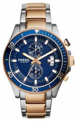 Fossil Mens Wakefield Chronograph Two Tone CH2954