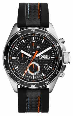 Fossil Mens Decker chronograph Black Silicone CH2956