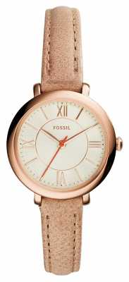 Fossil Womens Jacqueline Small Rose Gold PVD Leather ES3802