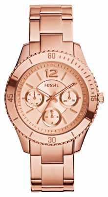 Fossil Womens Stella Rose Gold PVD Plated ES3815