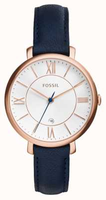 Fossil Womens Jacqueline Rose Gold PVD Leather ES3843