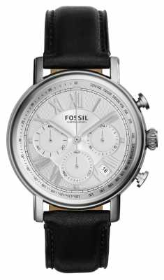 Fossil Mens Buchanan Chronograph Black Leather FS5102