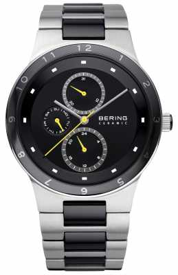 Bering Mens Ceramic Stainless Steel Day Date 32339-722