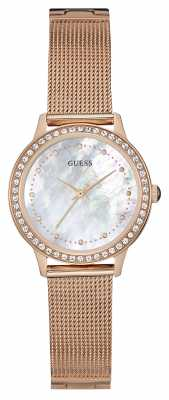 Guess Womens Chelsea Rose Gold Mesh Strap W0647L2