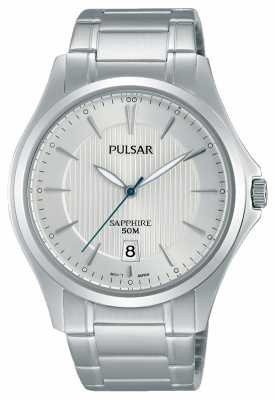 Pulsar Mens Stainless Steel Silver Dial PS9383X1