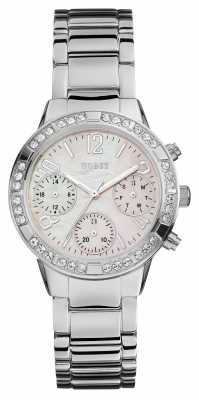 Guess Womens Sport Silver Stainless Steel W0546L1