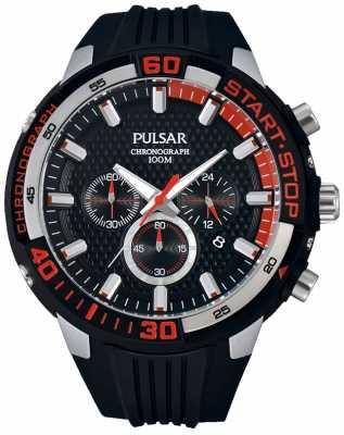 Pulsar Mens Chronograph Rubber Strap PT3697X1