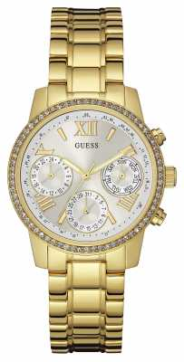Guess Womens Mini Sunrise Gold Stainless Steel W0623L3