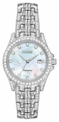 Citizen Womens Silhouette Crystal Stainless Steel EW1220-80D