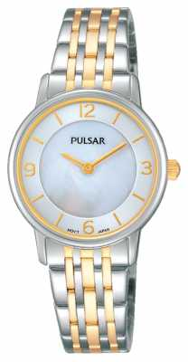 Pulsar Womens Two Tone Mother Of Pearl Dial PRW027X1