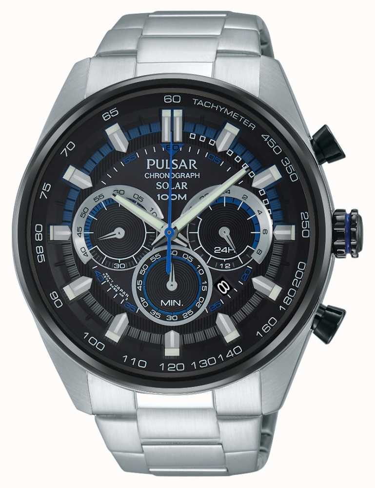 Pulsar Mens Wrc Chronograph Solar Stainless Steel Px5019x1 First
