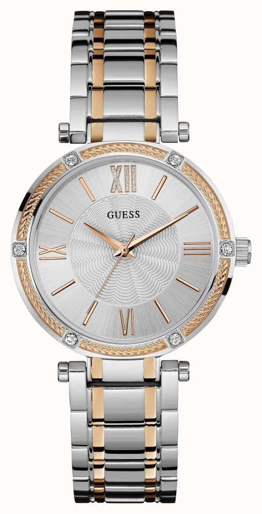 Guess Womens Park Avenue, Rose Gold & Steel, Stone W0636L1 ...- photo #50