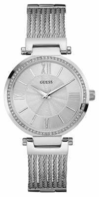Guess Womens SOHO Stainless Steel Silver Dial W0638L1