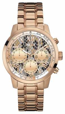 Guess Womens Sunrise Rose Gold PVD Plated W0330L16