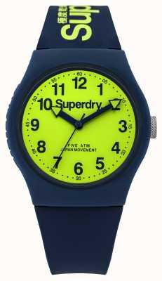 Superdry Men's Urban Blue Rubber Strap Green Dial SYG164UN