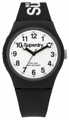 Superdry Mens Black Strap White Dial SYG164BW