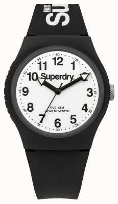 Superdry Mens Urban Black Strap White Dial SYG164BW