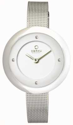 Obaku Womens Stainless Steel Mesh V162LXCIMC