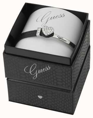Guess Colour Chic Stainless Steel And Black Leather UBS91307