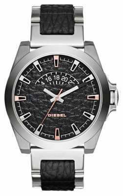 Diesel Mens Arges Stainless Steel Black Leather DZ1721