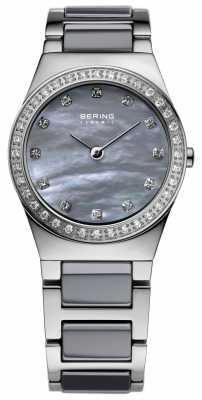 Bering Womens Stainless Steel Grey Ceramic 32426-789