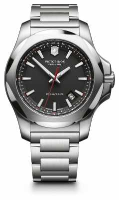 Victorinox Swiss Army Mens INOX Steel, Black Dial 241723.1