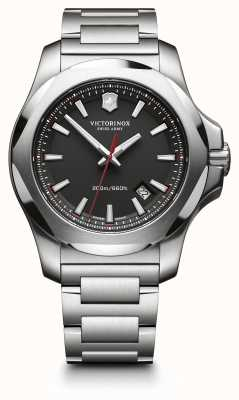 Victorinox Swiss Army Mens I.N.O.X. Steel, Black Dial 241723.1