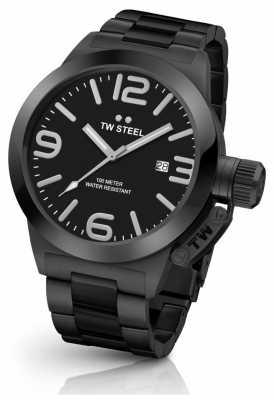 TW Steel Gent's Black IP Bracelet Black Dial CB211
