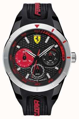 Scuderia Ferrari Red Rev T Black Silicone Black Red Dial 0830254