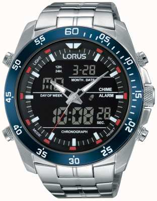 Lorus Men's Dual Time Stainless Steel RW623AX9