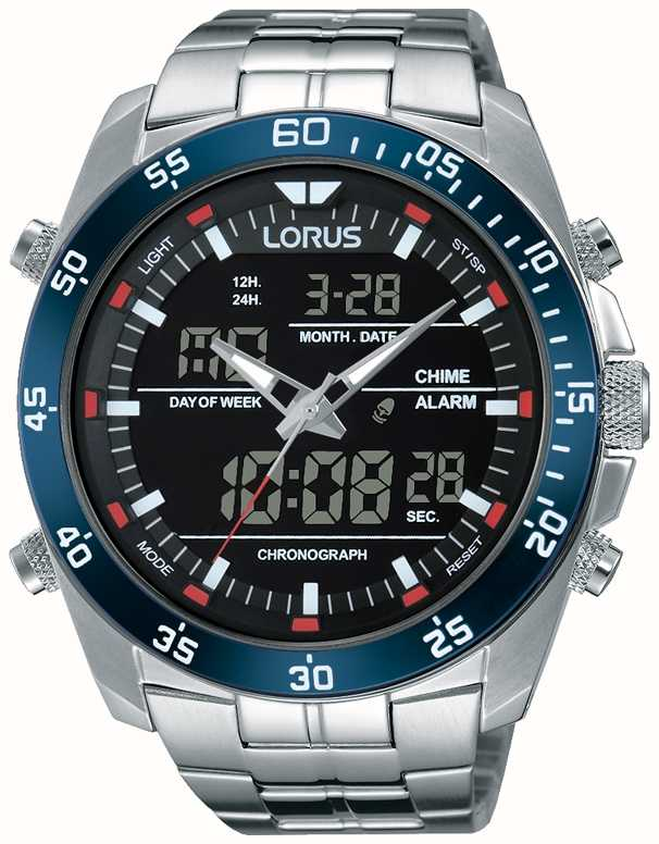 Lorus Mens Dual Time Stainless Steel Rw623ax9 First Class Watches