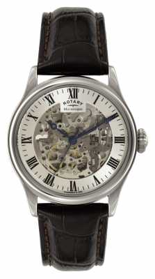 Rotary Mens Skeleton Automatic Leather GS02940/06