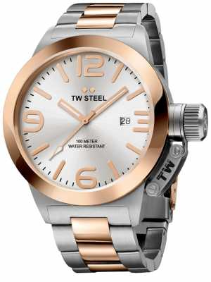 TW Steel Mens 45mm Canteen Two Tone CB121