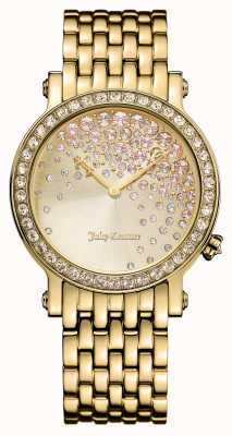 Juicy Couture Womens LA Luxe PVD Plated Stone Set Dial 1901280