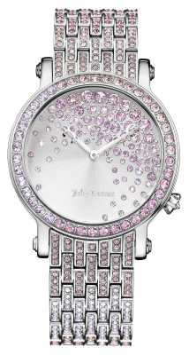 Juicy Couture Womens LA Luxe Stainless Steel Stone Set Dial 1901347